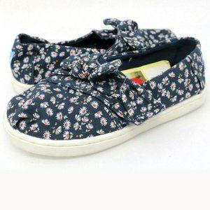 Toms Girl Classic Alpargata Ditzy Daisy Bow Shoes